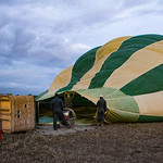 Saturday morning, February 18, we were up early for a balloon flight over the Serengeti.