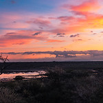 Sunday morning sunrise over Lake Masek.  We are about to set out on a day long drive in the Serengeti.