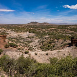 Olduvai Gorge is a dry location.  It formed about 2 million years ago from the same volcanic activity that formed Ngorongoro crater.
