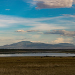 An evening view across the Serengeti, looking towards the Ngorongoro highlands.